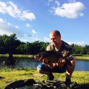 15/8 Peters fangst af spejlkarpe + 3 kg.